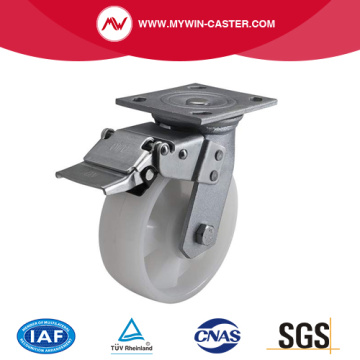 Heavy 6 Inch 420kg Plate Brake PA Caster