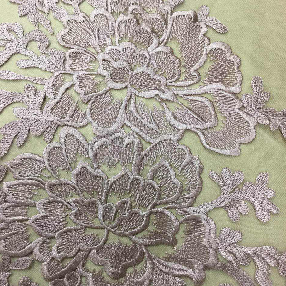 Pink Flower Lace Embroidery Material for Dress