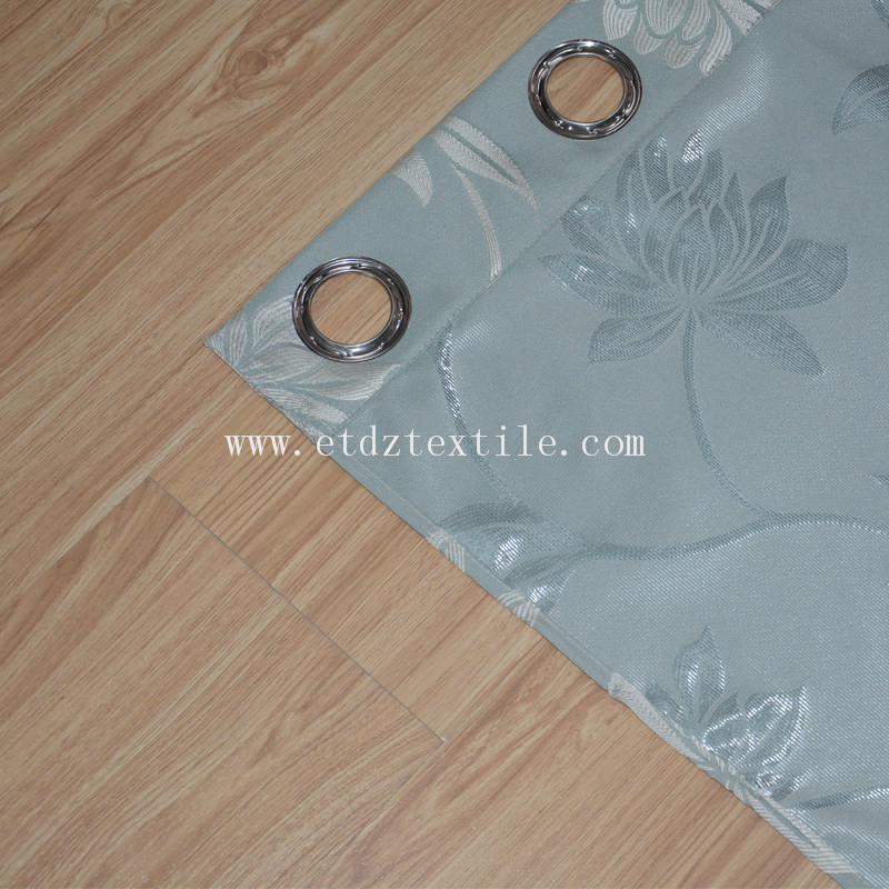 First Grade Polyester Jacquard Flower Pattern Window Curtain
