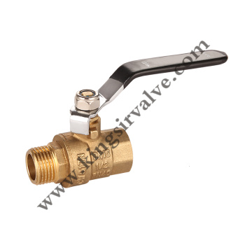 black handle ball valve