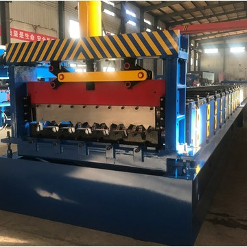 Decking panel roll forming floor decking machine