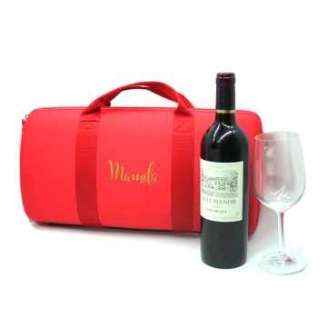 Wholesale Red EVA Wine Glass Storage Case with Private Label