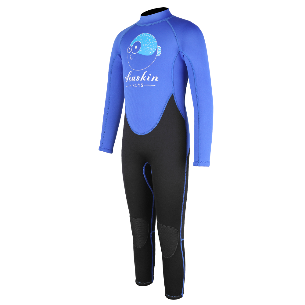 Seaskin Boys Back Zip Wetsuit