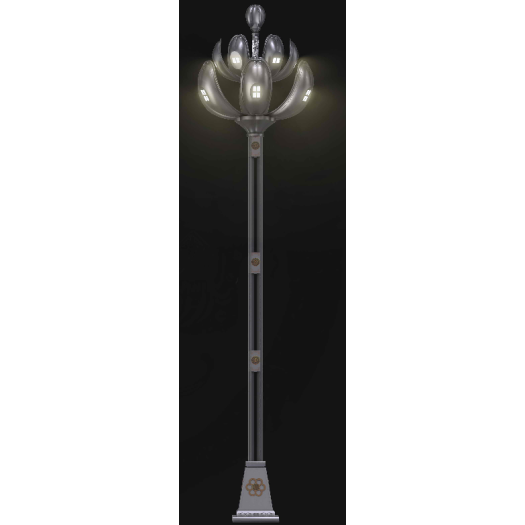 Art and culture type street lamp