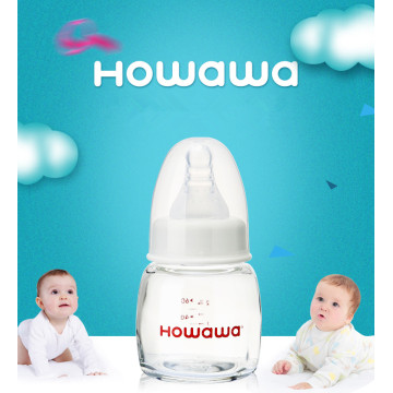 2oz Baby Glass Milk feeding Bottle Without Handle