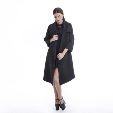 Long Black Cashmere windbreaker