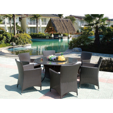 HD Designs Outdoor Rattan Furniture Round Dining Table