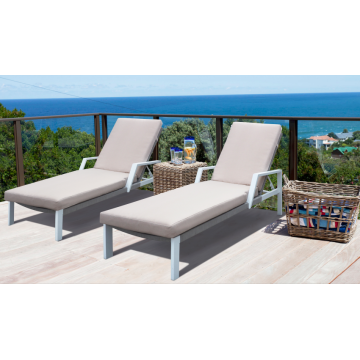 Beach use furniture aluminum with rope sun lounger