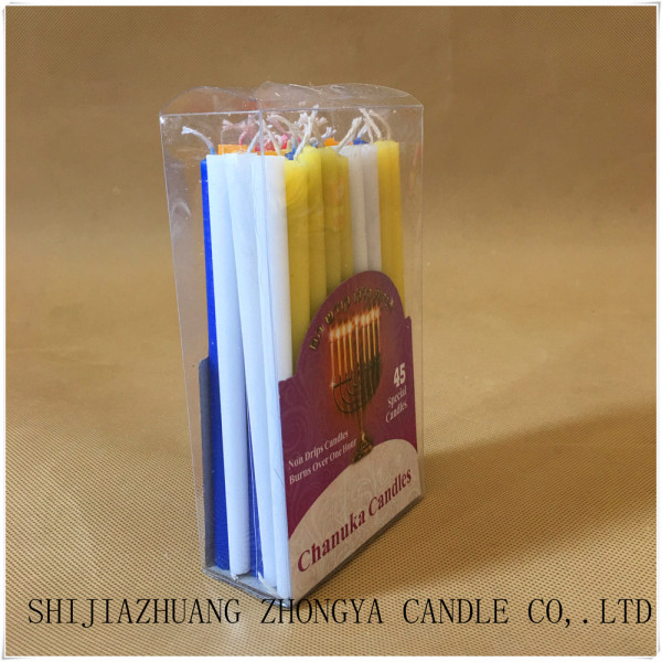 color jewish candle hanukkah candle