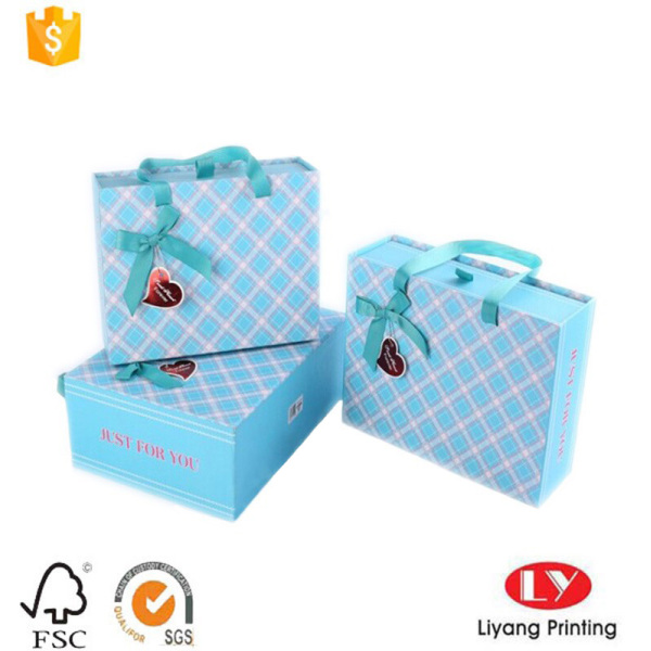 Drawer styles gift box with ribbon handle