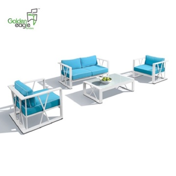 4pcs leisure aluminum garden furniture