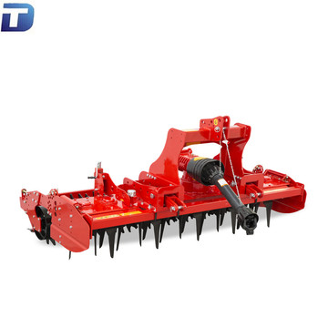 Heavy duty tractor pto driven rotary power harrow