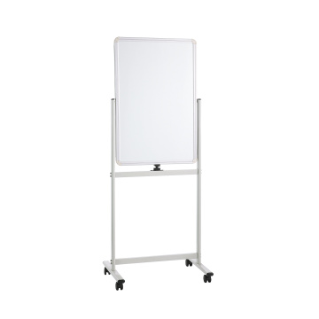 Magnetic 360 degree mobile whiteboard stand with wheels