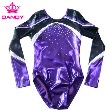 mystique metallic purple gymnastics gear