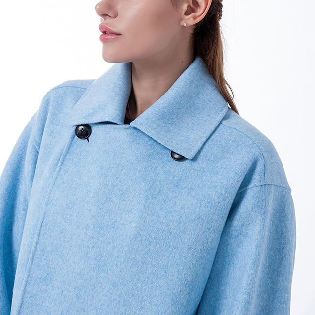 New blue  cashmere winter coat