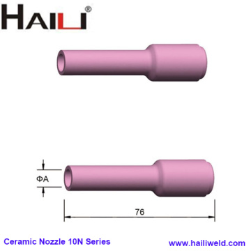 Long TIG Ceramic Nozzle 10N Series