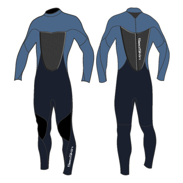 Seaskin Men's Back Zip Fullsuit Diving Wetsuits