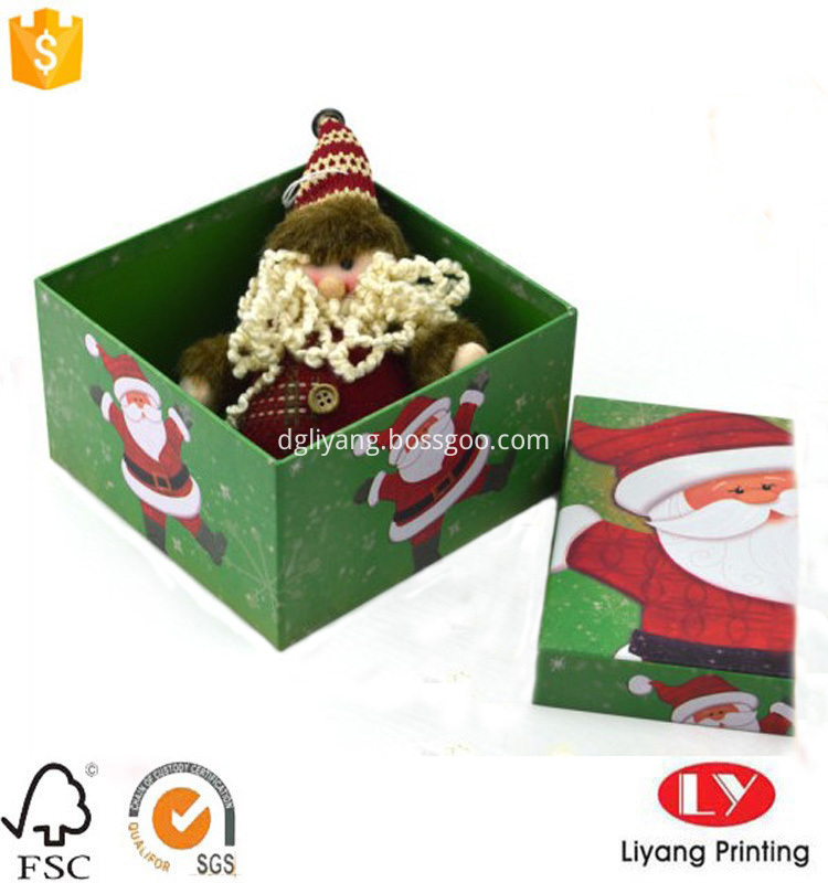 cardboard box for Christmad gift packaging