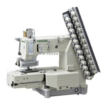 Cylinder-bed 12-needle Double Chain-stitch Sewing Machine