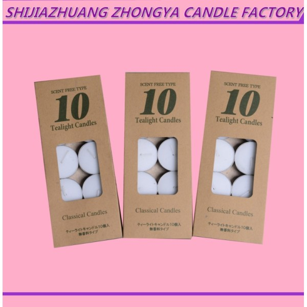 50 Pcs Slow Burning Tealight Candles for Church