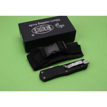 Microtech Black Automatic Knife with Glass Breaker