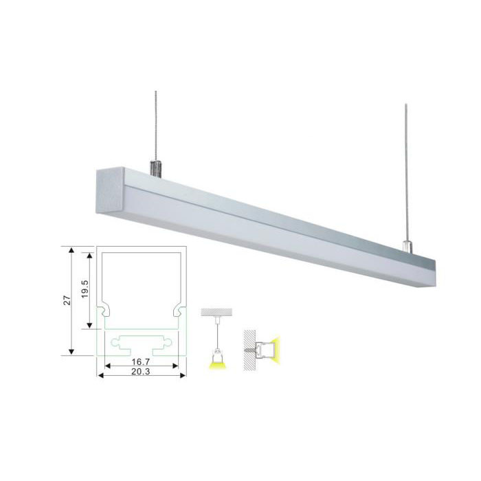 Pendant Mounted Flexible Linear Light