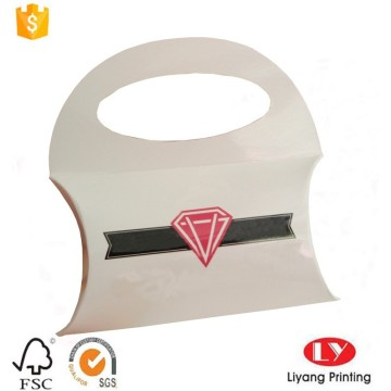 Paper pillow gift box for jewelry packaging