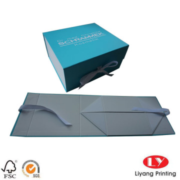 Flat pack luxury gift box packaging foldabe