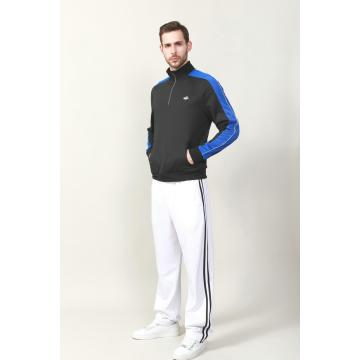 MEN'S CONTRAST TRICOT  ZIP JACKET