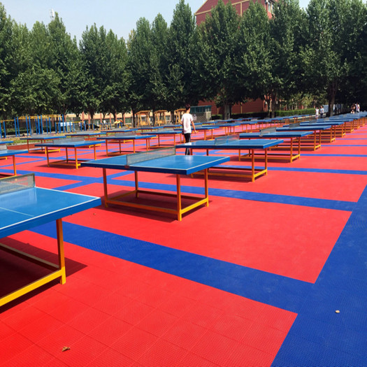 Outdoor Plastic Interlocking Table Tennis Flooring Tiles