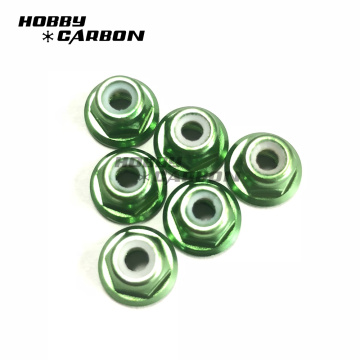 M6 Aluminum Lock Nut with Flange for bearing