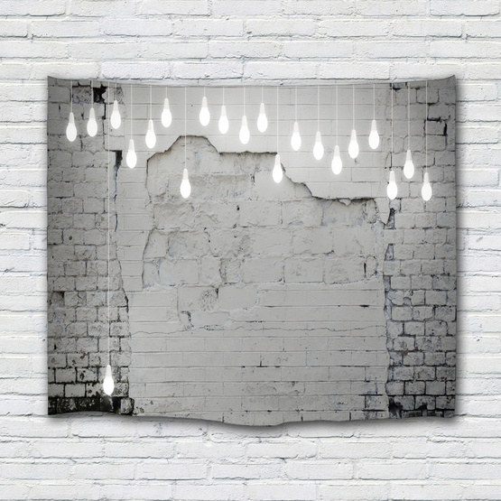 Cement Brick Light Wall Tapestry Industrial Style Tapestry Wall Hanging Polyester 3D Print Tapestry for Livingroom Bedroom Home