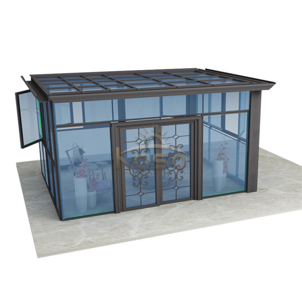 Green House Glass Aluminium Lean To Sunroom