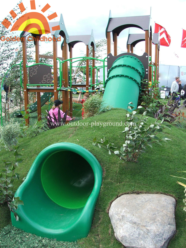 outdoor straight tube slide