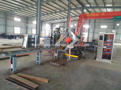 Channel band angle steel punching