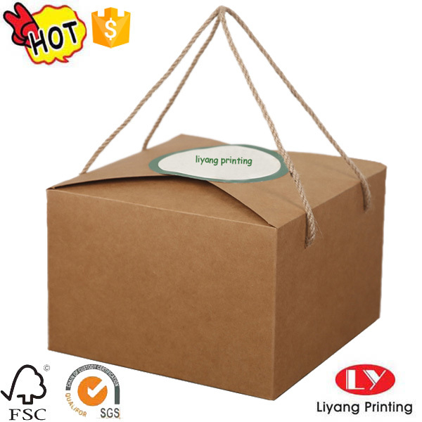 Custom high quality made empty kraft paper box