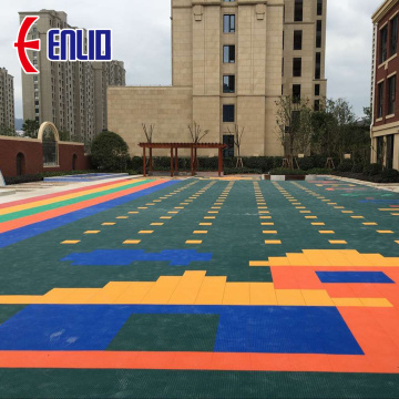 colorful customized children playground floor tile