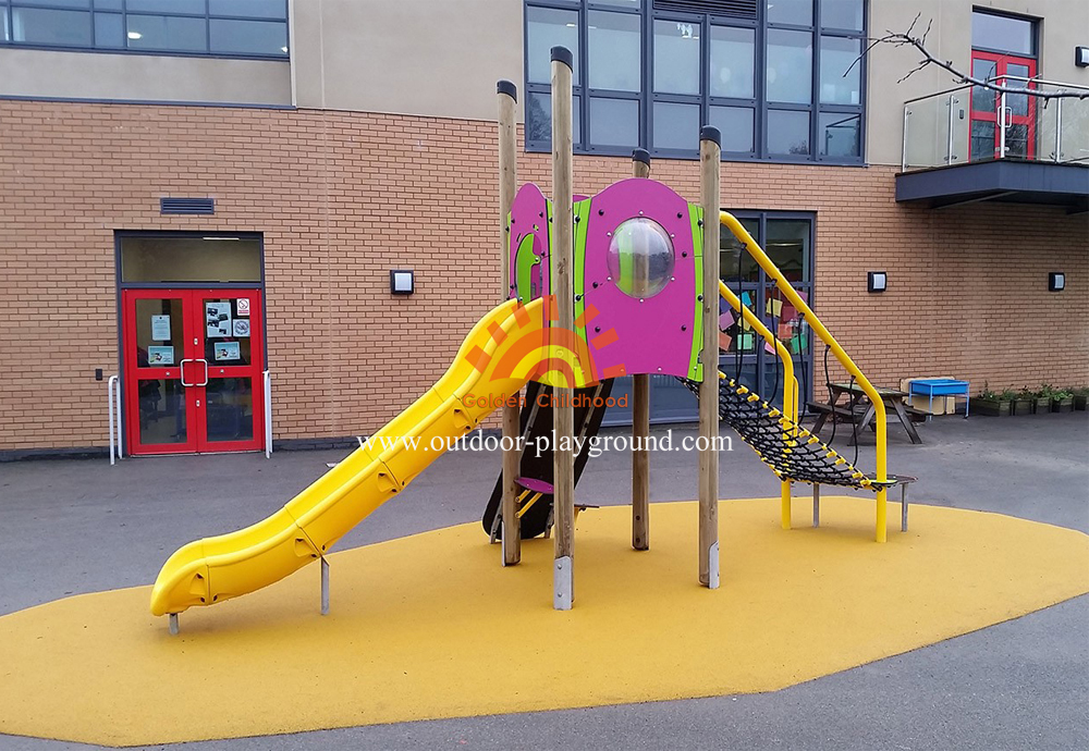 outdoor climbing slide playground structure for sale