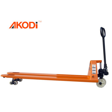 Custom made longer or wider pallet truck