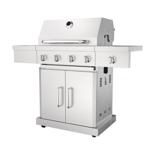 Four Burner Stainless Steel Barbecue Grill