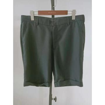 casual solid grey turn up leg mens shorts