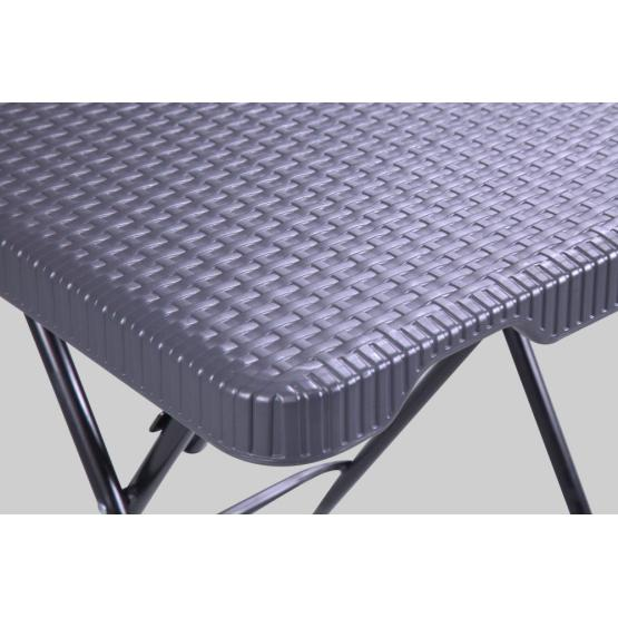 Square Garden Rattan Plastic Folding Table Outdoor