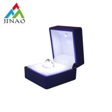 Luxury wedding ring box with LED light