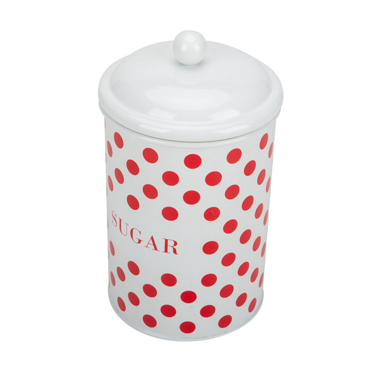Metal sugar canister set