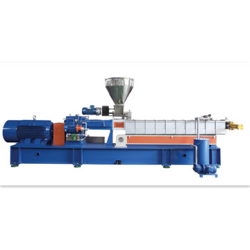 Plastic extruders with parallel twin screw