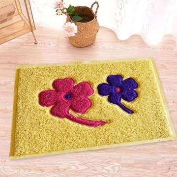 Factory wholesale floor mat with pattern design coil