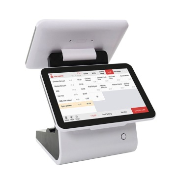Dual Screen All in one tablet PC Pos
