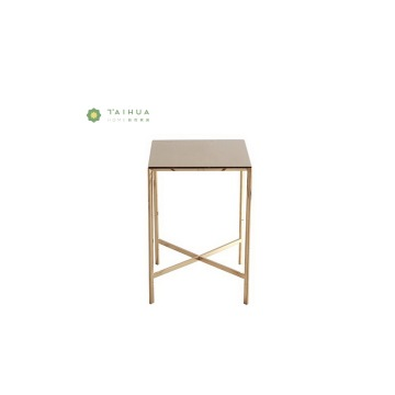 Bronze High Glossy Side Table for Living Room
