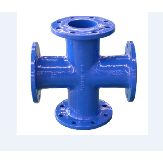 ALL flanged cross ductile iron