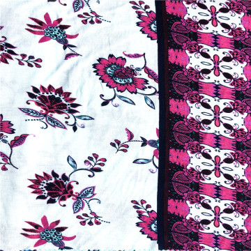 New fashion rayon spandex floral placement printed fabric